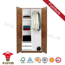 Melamine 2 door india wardrobe design for bedroom in dubai