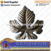 forging metal leaves