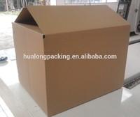 Heavy duty corrugated packing box carton