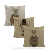 2014 of European and American personality retro Mr. deer cotton pillowcase brick siesta cushion cover