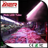 AC85-265V t8 pink led tube lights for fresh meat
