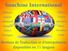 French to Chinese translator Interpreter in Jiangsu / Zhejiang / Guangdong / Fujian / Shandong