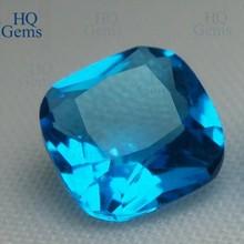 HQ Pretty Cushion Cut Aquamarine Stone Glass