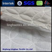 Quilt Satin Imitation memory fabric with padding