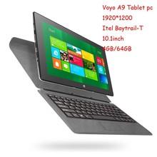 "VOYO WinPad A9 Tablet PC Intel Atom Z3770 Quad Core 2.4GHz 10.1""1920*1200 OGS IPS 4GB LPDDR3 64GB EMMC Windows 8.1 HDMI OTG WIFI"