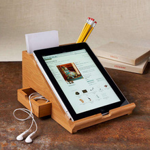 Bamboo made stationary tablet stands and holders