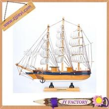 Christmas decorative gifts novelty small wooden sailboat model