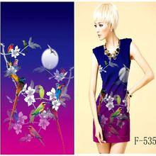 94 polyester 6 spandex fabric/digital printed fabric/floral print dress