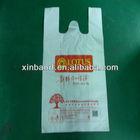 cheap custom printed plastic bag t-shirt bags for shopping