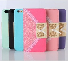 Multicolor Leather Flip Cover for iPhone6 Case with chain for girls