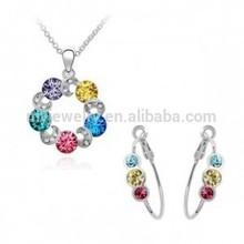 Jade 18k gold plated jewelry set