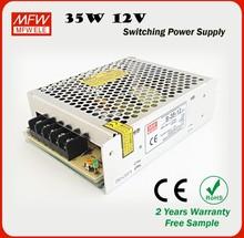 S-35-12 35w ac dc led power supply 12v 15v 24v 36v single output type led driver with CE ROHS