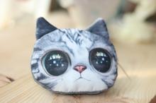 2014 Fluffy cat head &mk wallets in china &little change purse
