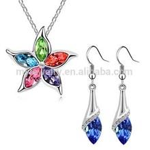 2014 fashion trend 18k gold crystal bridal jewelry set for bridal wedding