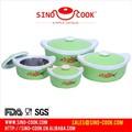 4 pc fijadas aislamiento termo de acero inoxidable de plástico y jarra de alimentos
