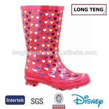 Most popular rubber girls pink boots wellington boot