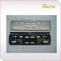 ABS plastic license plate holder, european licnese plate frame