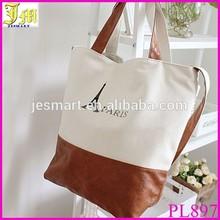 Women Ladys Retro Classic PARIS Eiffel Tower Print Canvas Handbag Shoulder Bag Cheap