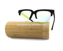 Lunettes de soleil lentille jaune bambou, nuances lunettes de soleil mode femmes lunettes en bois