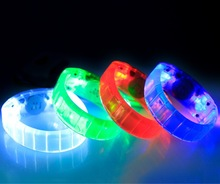 LED voice control bracelet with the music LED bracelet glowing in the dark sound led bracelet flashing wristband for party