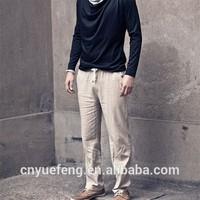 Fashion linen 2014 new style men's pants MLS213