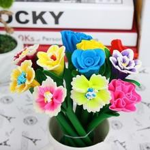 artificial flower rose flower pen for gift