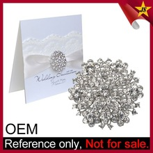High Quality Custom Bulk Rhinestone Brooch for Wedding Invitations