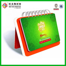 2014 chinese new design paper table calendar with high quality