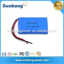 quality battery factory supply li-polymer 3.7v 1800mah battery