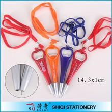 Popular on promotional beer opener shape pen