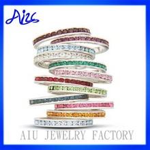 women fashion multicolor zircon ring wholesale