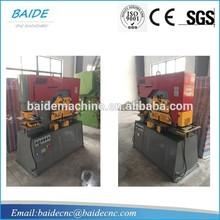 Hydraulic iron section cutting and punching machine