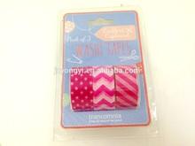 Custom adhesive Designed colorful washy tape,decorative tape