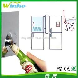 Winho blank stainless steel fridge magnet with bottle opener