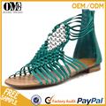 Cheville bracelet vert couleur nouvelle conception dames fantaisie mode brésilienne sandale