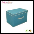 Home goods vertical storage bin with lid and handle,non-woven fabric,ikea style