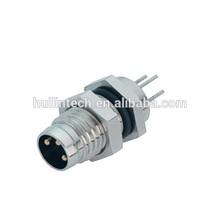 Waterproof IP67 aviation plug dip solder M8 Binder connectors