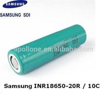 2014 flat top inr 18650 20r 2000mah original Samsuni battery with 22a discharging rate