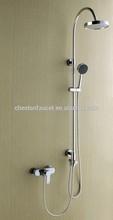 Brass wall-mounted bath & shower faucet, rain head shower set