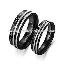 Men women wedding titanium stainless steel pair engagement ring