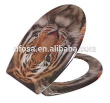 printing tiger Duroplast soft closing toilet seat lift Three sides printing