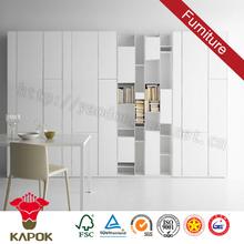 Wall mounted bedroom decorative laminate wardrobes