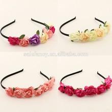 Cute Bohemian Floral Flower Rose Party Wedding Hair Wreaths Headband Hair Band QFHD-1024