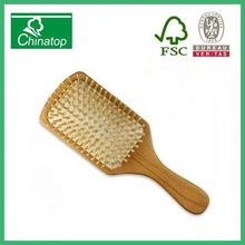 BIG Woodenbig hair comb vent Brush Hair keratin care and Beauty Spa Massage comb