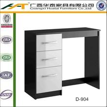 Bedroom set   Black and White 3 Drawer Dressing Table