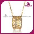 18k banhado a ouro qualidade superior de zircão cz brilhante em forma de anel pingente