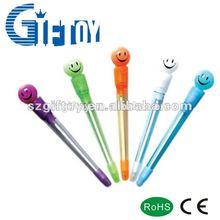 cute led light pen Promotional Logo print Pen for girl/kids