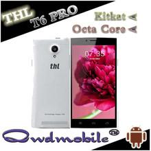 thl t6 الهاتف المحمول للمحترفين مع بوصة 5.0 mtk6592 ثماني-- كور 4.4os 1gb ram الروبوت الكاميرا 2mp 8gb المضغوطةدي 8mp