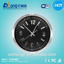 Electronics 720P HD Pinhole Motion Detection Wall Clock Hidden WiFi iP Camera WiFi