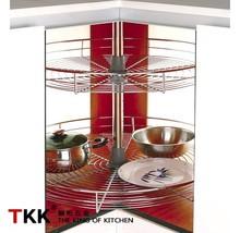 TKK Kitchen Cabinet Magic Corner Wire Lazy Susan Basket